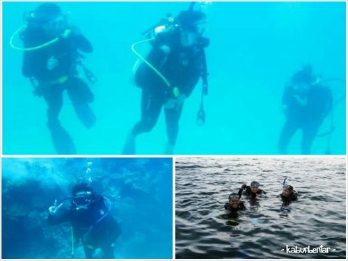 Diving di Karimunjawa dengan teman kantor saya: Eveline dan Tita