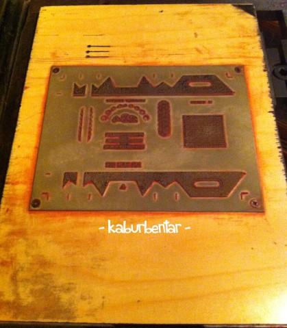Pelat cetakan bungkus rokok Dji Sam Soe