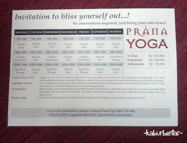 Kelas Yoga di Prana Yoga