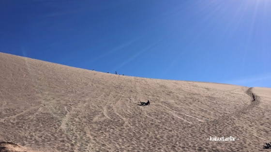 fell down sandboarding